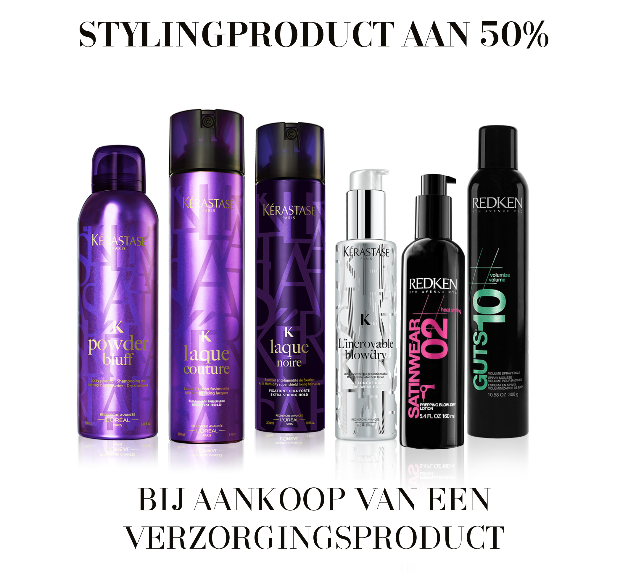 Stylingproduct aan 50%